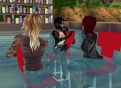 Waterpark Bar 2 (SoakinJo) Tags: imvu wetlook wetclothes soakinjo highheels wetsuit clothed pool