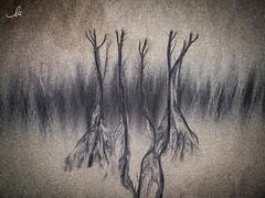 Free interpretation (ila.bona) Tags: sand disegni astratto ilabona water sabbia acqua abstract ila alberi painting