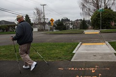 Improving access for all. New curb ramps completed on Dravus Street. (Seattle Department of Transportation) Tags: seattle sdot transportation donghochang access improvements dravus curb ramp pedestrian walker walking sticks canes 29th