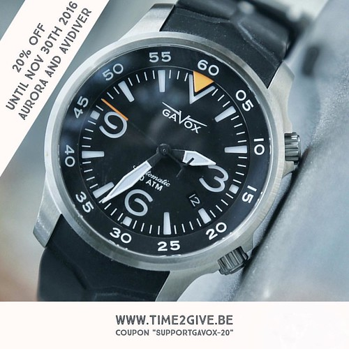 "Please share this.  In order to start producing my new watch, my first Automatic with a power reserve complication.  I am offering a -20% promotion on the Gavox Aurora and Avidiver. Thanks for your support. Use coupon ""gavoxsupport-20"" ___________________"
