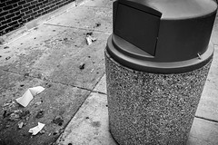 (322/366) Missed (CarusoPhoto) Tags: iphone 7 plus trash garbage street bw black white john caruso carusophoto photo day project 365 366