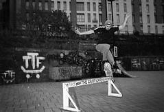 The Graff Cafe (Shot In The Street) Tags: streetphotography hp5 ilfordhp5 street bw graffiti 2016 graf film zombie canoneos3 analogue monochrome mono candid skateboarding skater bristol filmisnotdead blackandwhite black ilford bristolzombiewalk2016 white