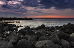 first moment (Marco Brunetti) Tags: sangiovannilicuti catania sicily sea seascape sicilia sunrise clouds pentaxk30 mefotoroadtrip formatthitech