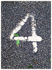 #4 (tubblesnap) Tags: 4 number four parking space mobile smartphone photography tarmac