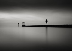 Is there anybody out there? (mike-mojopin) Tags: blackandwhite longexposure seascape