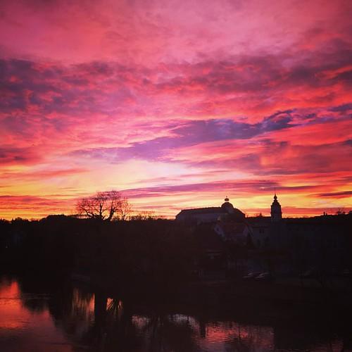 #sonnenaufgang #weissenfels #saale #schloss #schlossneuaugustusburg #marienkirche