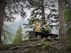 Brother and sister love (katrienberckmoes) Tags: brother sister love sitting enjoying view valley urwald rauris austria alps top