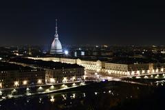 Turin's view (Mersa Photography) Tags: turin torino italy italia mole antonelliana night light buildings place city view vista belvedere panorama dark above