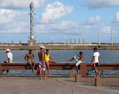 Recife - Marco Zero (Luiz Carlos Targino Dantas) Tags: recife praariobranco marcozero parquedasesculturas arrecife pe pernambuco rraif canon canong12 cidade city