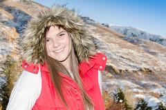 20161124-HSM_9267 (Howard Metz Photography) Tags: model female mountians arctic winter vest red hoodie brunette