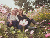 Enchanted family (Vincent F Tsai) Tags: family photo portrait group happy dreamy flowers field sun beautiful outdoor nature light leicadgsummilux25mmf14 panasonic lumixg7