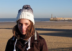 Phoebe on a cold, breezey Winters day at Margate, a trip to the Turner Contemporary Gallery - archiving (favmark1) Tags: margate turner turnercontemporary phoebe