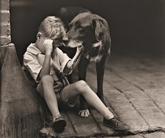 Boy and his dog 1922 LOC31460u (SSAVE w/ over 6.5 MILLION views THX) Tags: boy dog dogchain 1922