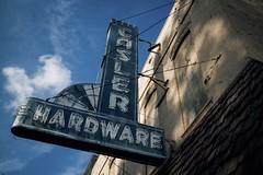 Casler Hardware (davelawrence8) Tags: 2016 caslerhardware city downtown hardwarestore jackson michigan neon sign signage streetphotography summer urban urbanlandscape mi usa