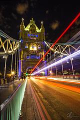 Tower Bridge Traffic (Robin J Smith) Tags: longexposure color colour london thames night towerbridge canon eos lowlight nightshot nightime lighttrails lolight eos6d robinjsmith wwwfacebookcomrobinjsmith98 httpswwwflickrcomphotosrobinjsmith