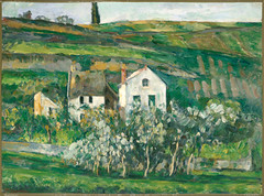 Small Houses in Pontoise (lluisribesmateu1969) Tags: cambridge landscape cézanne harvardartmuseumsfoggmuseum