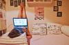 Εσύ Που το Βάζεις το PC σου; (Nefeli Tsalta) Tags: pink windows friends portrait people beach pc tv bed hp mac sitting legs laptop toilet wc