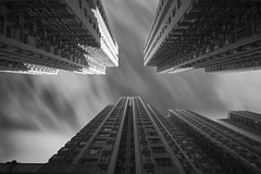 Housing ([~Bryan~]) Tags: city light urban bw building architecture hongkong time housing ndfilter cloudmovement daytimelongexposure