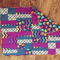 Throwback Thursday: My first quilt! (indigoquilter) Tags: quilt quilting patchwork amybutler babyquilt throwbackthursday littlestitchesforlittleones