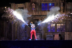 Mickey during Fantasmic at Disneyland (GMLSKIS) Tags: disney disneyland mickeymouse fantasmic sony a500 california amusementpark anaheim