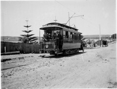 Rose Bay electric tram, New South Head Road, 1898 / by Albert James Perier (State Library of New South Wales collection) Tags: trams statelibraryofnewsouthwales