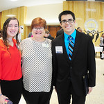 Students and a professor posing for a photo at the 2015 Fall Professional Networking Symposium