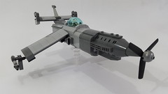 Vulture 2.0 (side view) (Hendri Kamaluddin) Tags: sky plane airplane war lego aircraft airship airforce squadron moc fighterplane skyfi fantasyplane victorysquadron