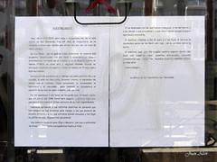 Cierre. Bar Noviciado. Agradecimiento (Madrid) (Juan Alcor) Tags: madrid bar carta agradecimiento noviciado