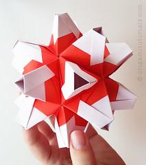 Origami Fiesta Kusudama (Judith Magen) Tags: origami fiesta paperfolding origamimodular modularorigami kusudama mariavakhrusheva fiestakusudama