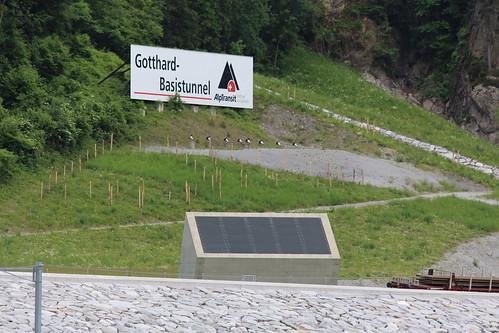 AlpTransit NEAT - Werbetafel - Baustelle Erstfeld UR