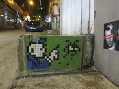 Space Invader HK_94 (tofz4u) Tags: china hk streetart tile hongkong mosaic spaceinvader spaceinvaders police cop invader flic chine policeman mosaque policier artderue hk94