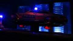 Corgi Toys Buick (Century) Regal Police Car No. 416 Converted Into A Futuristic Sci-Fi Hover Car : Diorama A Hover Police Car City Scene - 18 Of 98 (Kelvin64) Tags: city car century toys buick corgi no police scene scifi converted futuristic regal diorama hover 416 a into
