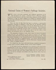 Notice of formation of National Union of Women's Suffrage Societies 18972NWS/C/1