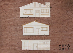 6by6Arts_PopUpVillage2 (thea superstarr) Tags: wood houses holiday modern century village handmade birch kit popup maker pnw mid midcenturymodern madeinusa mcm lasercut laserengraved 6by6arts