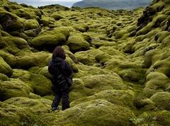 Eldhraun (loveexploring) Tags: mountain green rock landscape person lava iceland moss volcanic scrub lavafield southiceland eldhraun