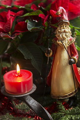 It's that time of year... Advent, Advent! (suzanne~) Tags: christmas stilllife advent candle seasonal indoor celebration nikolaus tabletop stnick firstsunday velvet56
