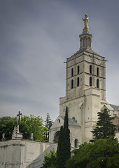 Avignon Cathedral (Notre Dame des Doms) (Greatest Paka Photography) Tags: travel france history church statue architecture cathedral religion belltower virginmary romanesque avignon romancatholic notredamedesdoms