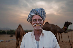 Camel Breeder... (mehtasunil) Tags: travel smile happy camel pushkar rajasthan leicacamera indiapictures pushkarfair leicalens leicaq leicaimages camelbreeder