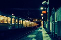 Railway  station (yasu19_67) Tags: film station 50mm railway osaka nightview hankyu expiredfilm photooftheday filmphotography minolta7 filmism europrint200 ebcfujinon50mmf14