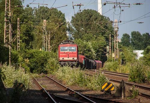20.07.2006 Gelsenkirchen Bismarck. DB 155 243 mit gem Güterzug Bottrop