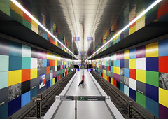 Georg-Brauchle-Ring station (U1) (Jacqueline ter Haar) Tags: mnchen design colorful metro ubahn georgbrauchlering