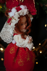 DSC_1462 (nekophoenix) Tags: christmas red doll ooak newyear custom everafterhigh duchesswan