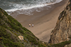'The Photographer' (Canadapt) Tags: ocean sea people beach portugal rock triangles surf waves cliffs atlantic canadapt
