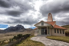 Chapel 13,451 feet (4,100 meters) up on the summit of Cruz Loma (sussexscorpio) Tags: chapel hermitage path church religious religion mountain ecuador mountains andes quito cablecar telerico canon canon60d southamerica gondola ermitadeladolorosa scenery pinchincha view outdoor altitude architecture landscape building cloud sky placeofworship volcano