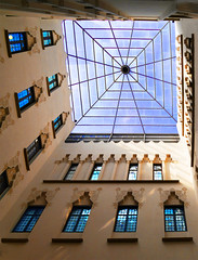 Courtyard (chrisk8800) Tags: architecture building courtyard windows indoor barcelona geometric texture composition structure glass lines glassroof