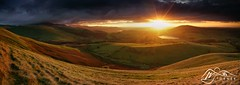 Skiddaw, Binsey & Over Water from Longlands Fell (M J Turner Photography ) Tags: panorama panoramicimage panoramicshot longlandsfell binsey skiddaw bassenthwaitelake overwater lakedistrict cumbria england lake hill fell mountain hills fells mountains countryside field fields sunset dusk evening landscape