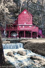 Hudson Water Mill (Kuby!) Tags: kubitschek kuby nikon d810 october 2016 southern missouri hodgson water mill river fall colors nature outdoors tourist site topaz adjust color desaturation selective