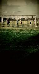"The beautiful game ! (CJS*64 ""Man with a camera"") Tags: football soccer match samsung samsungj3 goal ballwatching defend colour shoot outdoors sport green grass pitch"