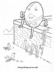 Humpty Dumpty (katinthecupboard) Tags: vintagechildrensillustrations vintagechildrenscoloringpages vintagechildrensmothergoose mothergoose 1941