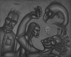 Roadside Assistance (Tom McKee / Art Guy) Tags: surreal surrealism surrealist scfi narrative narrativeart drawing dark lowbrow ink visionary prisma pencil artvisionary art apocalypic